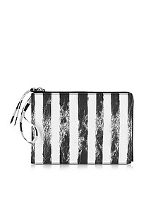 Black and White Striped Clutch - MM6 Maison Martin Margiela