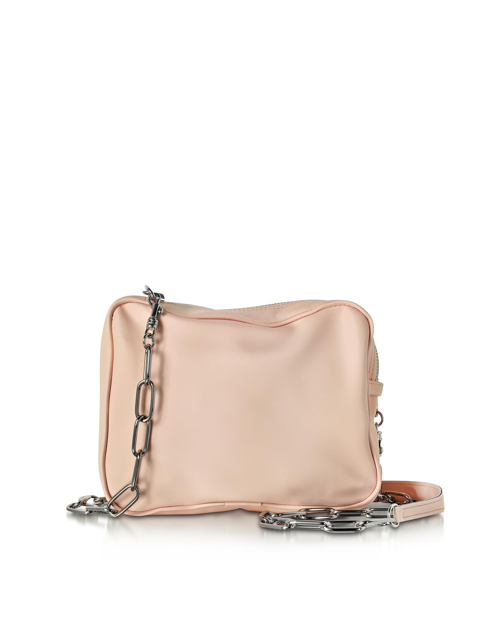 Фото Светло-розовая Кожаная Сумка на Плечо. Купить с доставкой