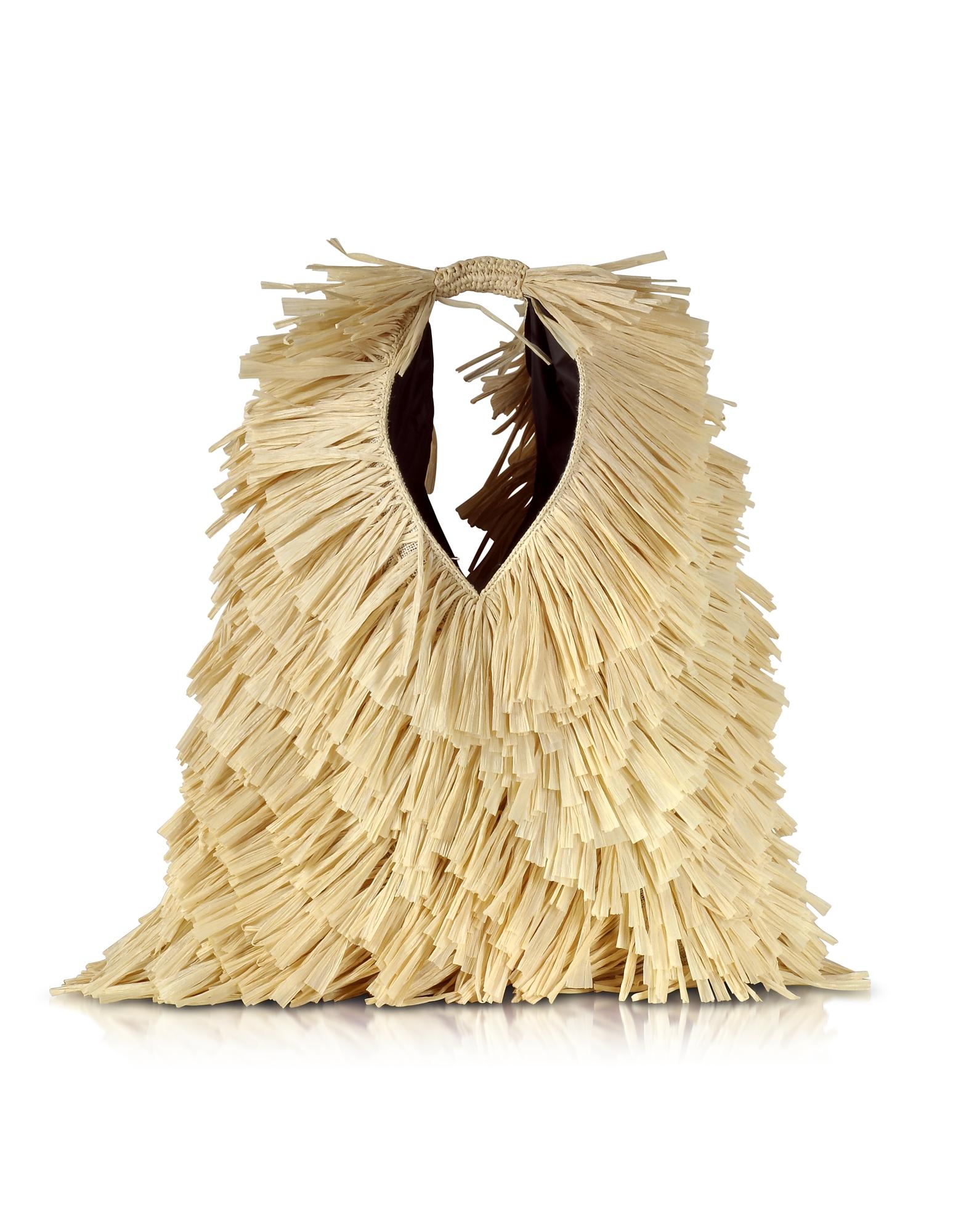 Фото Natural - Японская Сумка Tote из Искусственной Рафии. Купить с доставкой