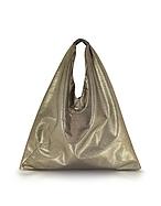MM6 Maison Martin Margiela Japanese Bag in Eco Pelle Laminata Oro - mm6 maison martin margiela - it.forzieri.com