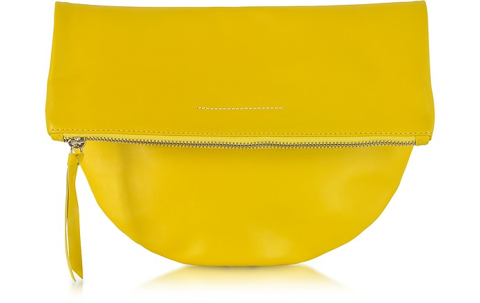 Leather Rounded Clutch - MM6 Maison Martin Margiela