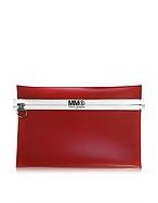 MM6 Maison Martin Margiela Pochette in Pelle Rossa con Zip - mm6 maison martin margiela - it.forzieri.com