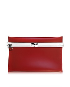 Red and Beige Flat Clutch - MM6 Maison Martin Margiela