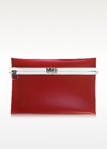 Pochette en Cuir Rouge - MM6 Maison Martin Margiela