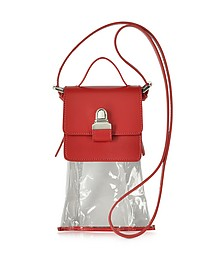 Mini Red Leather Crossbody Bag - MM6 Maison Martin Margiela