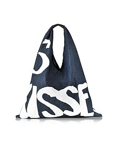 Kisses White Painted Washed Denim Tote - MM6 Maison Martin Margiela