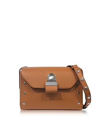 MM6 Maison Martin Margiela - Brown Leather Shoulder Bag