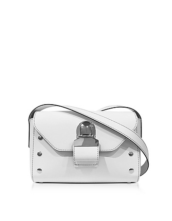 MM6 Maison Martin Margiela - White Leather Shoulder Bag