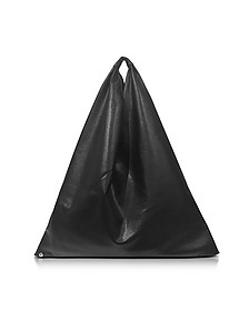 Black Synthetic Nappa Leather Tote  - MM6 Maison Martin Margiela