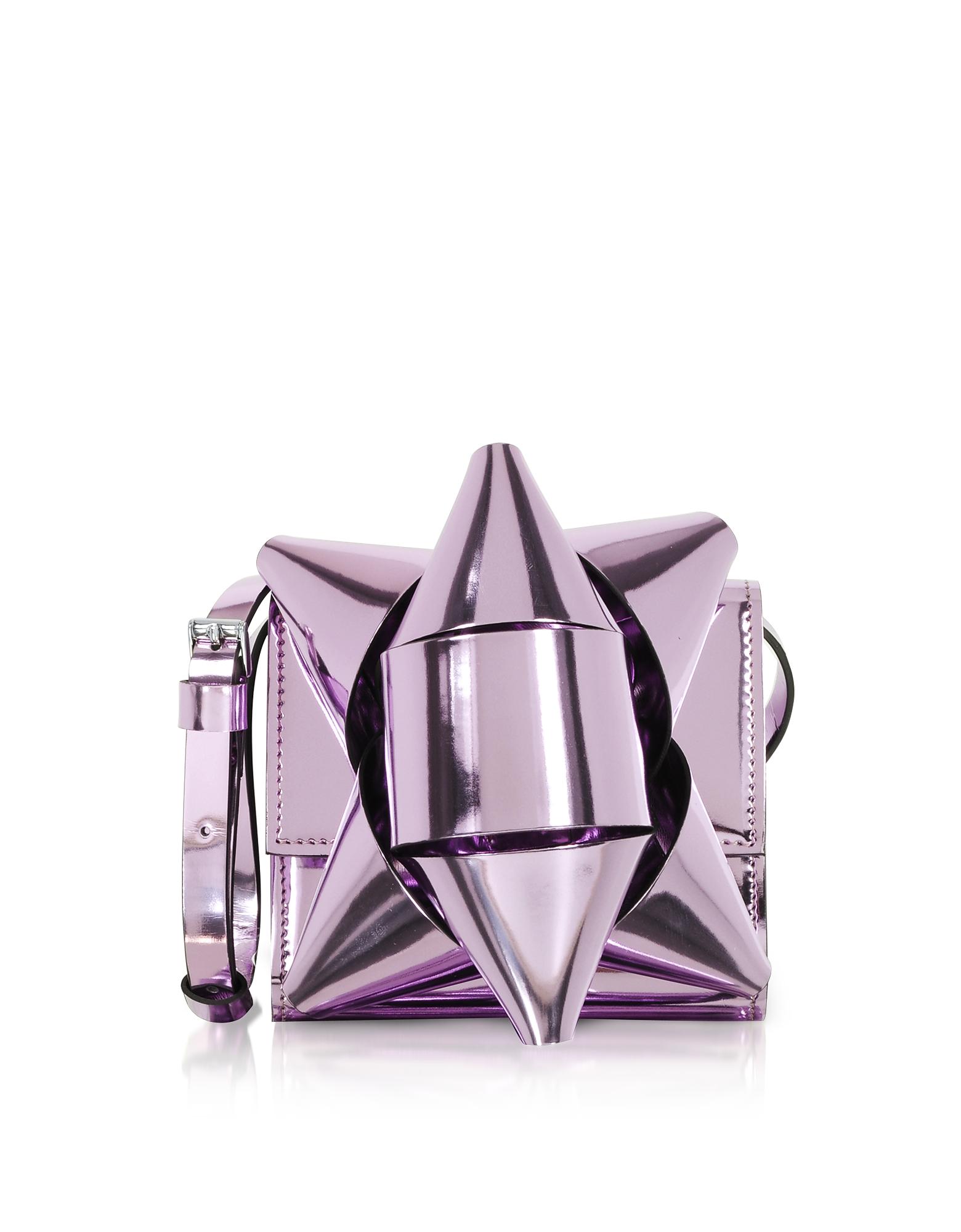 MM6 Maison Martin Margiela Handbags, Metallic Eco-Leather Bow Shoulder Bag