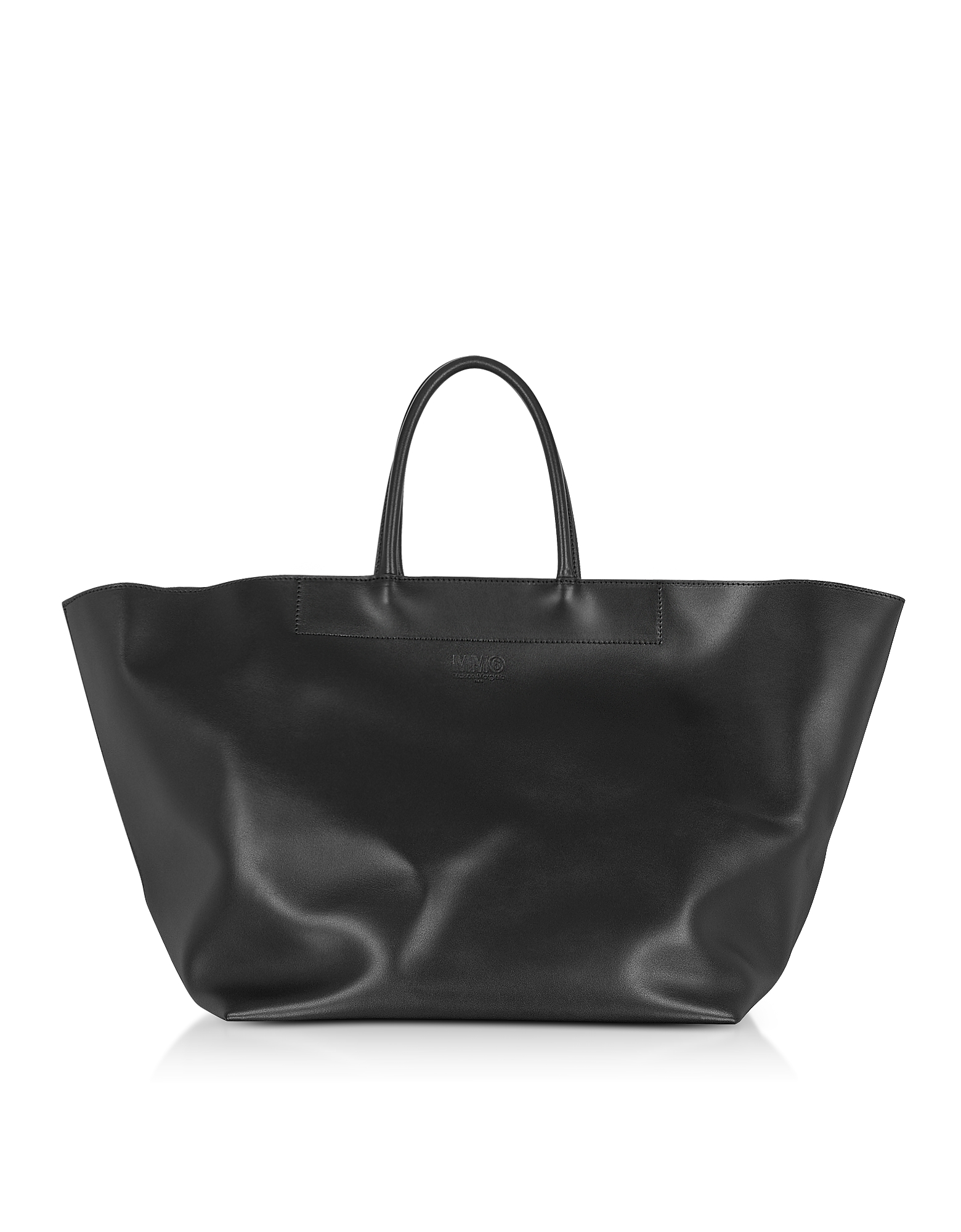 Shopper Oversize in Pelle Nera