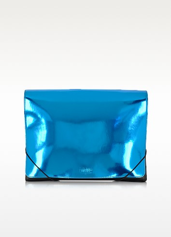 Metallic Leather Clutch - MM6 Maison Martin Margiela