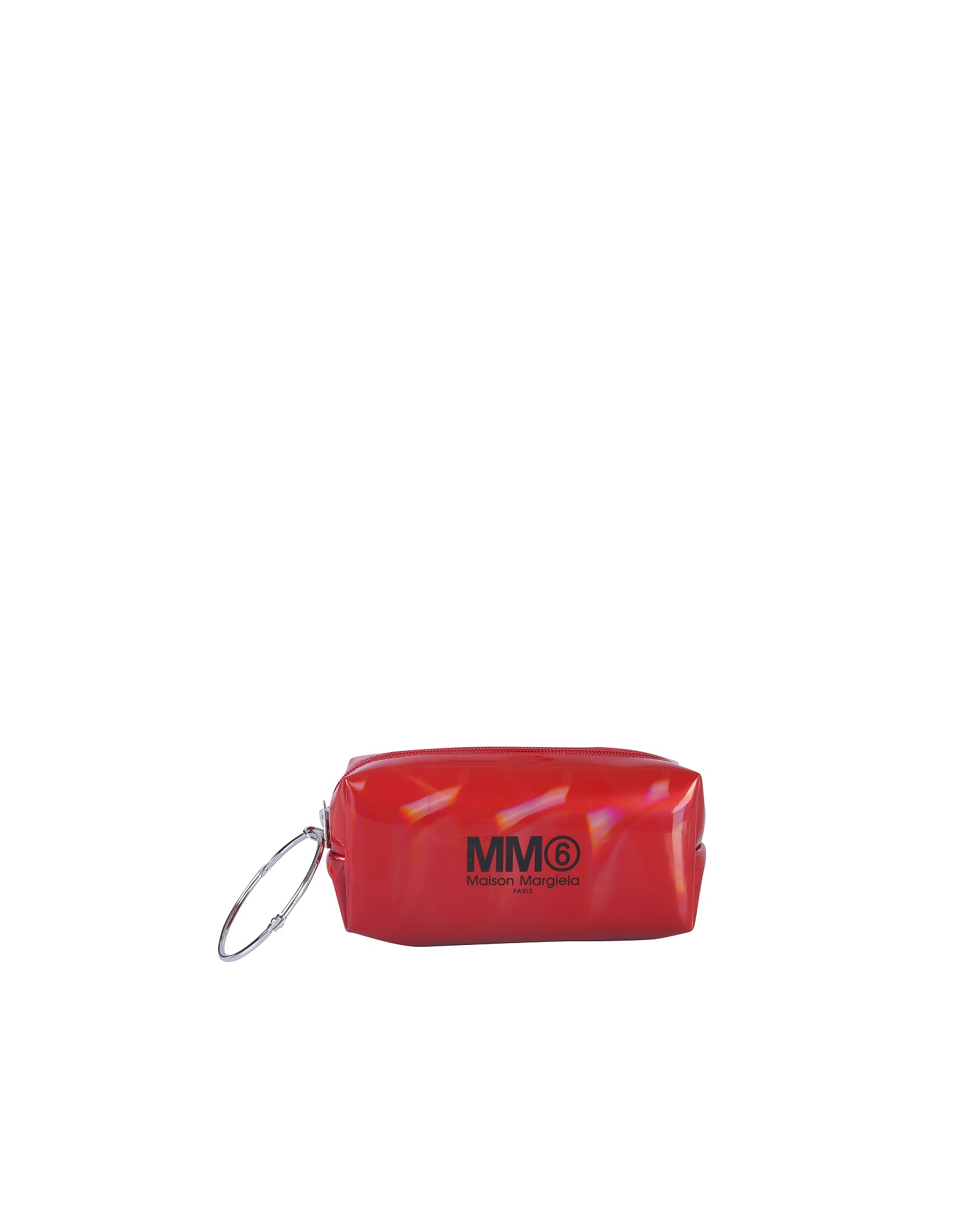 MM6 Maison Martin Margiela Designer Handbags, Clutch With Logo And Ring