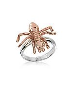 MM6 Maison Martin Margiela Spider Ring Anello in Metallo Silver/Rosa con Ragno - mm6 maison martin margiela - it.forzieri.com