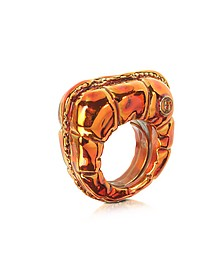 Logo Detail Copper Women's Ring - MM6 Maison Martin Margiela