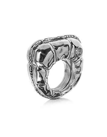 MM6 Maison Martin Margiela - Logo Detail Copper Women's Ring