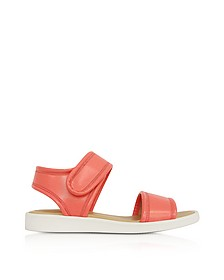Salmon Pink Eco Leather Flat Sandal - MM6 Maison Martin Margiela