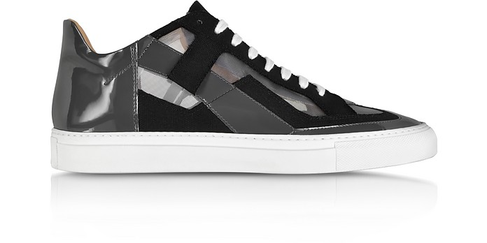 Techno Fabric and Patent Leather Sneaker - MM6 Maison Martin Margiela