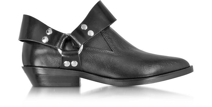 Black Leather Low Top Bootie - MM6 Maison Martin Margiela