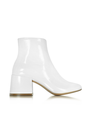White Patent Leather Bootie
