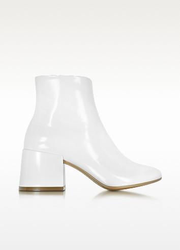 White Patent Leather Bootie - MM6 Maison Martin Margiela