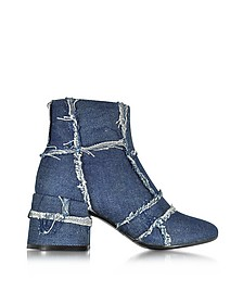 Denim Blue Mid Heel Bootie - MM6 Maison Martin Margiela