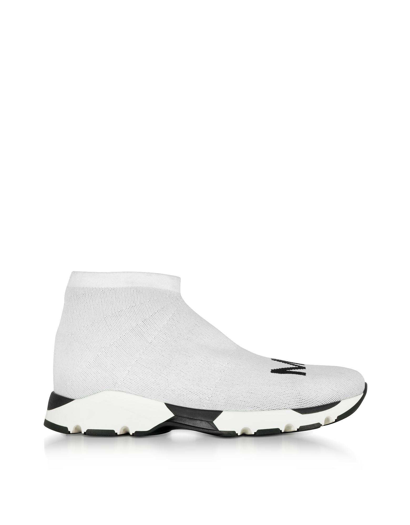 Le blanc et le Noir Logo Chaussettes Sneakers