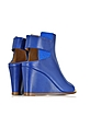 Blue Leather Wedge Ankle Boot - MM6 Maison Martin Margiela