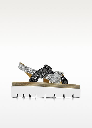 Two Tone Glitter Platform Sandal - MM6 Maison Martin Margiela