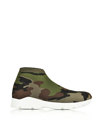 MM6 Maison Martin Margiela - Camouflage Stretch-Mesh High-Top Women's Sneaker