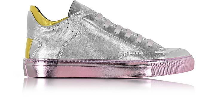 Metallic Leather Low Top Women's Sneaker - MM6 Maison Martin Margiela