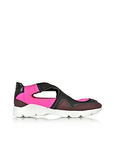 Color Block Nylon and Leather Sneakers - MM6 Maison Martin Margiela