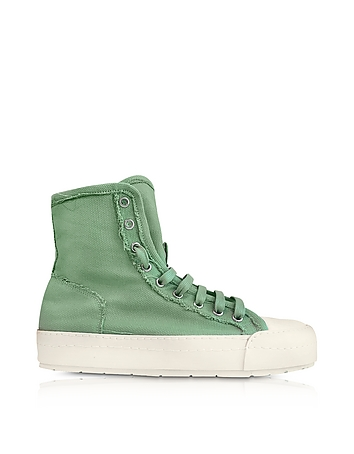 MM6 Maison Martin Margiela - Mint Green Canvas Sneakers