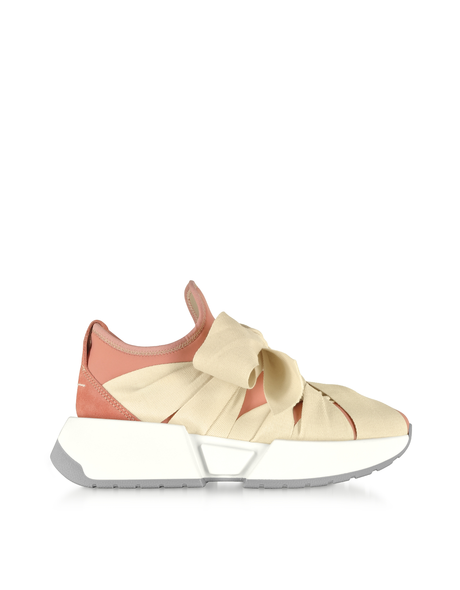 MM6 Maison Martin Margiela Designer Shoes, Ribbon Tied Sneakers