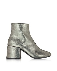 Platinum Leather Ankle Boot - MM6 Maison Martin Margiela