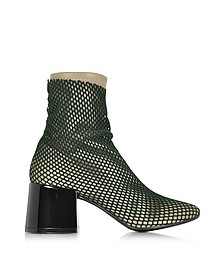 Multicolor Leather and Fabric Bootie - MM6 Maison Martin Margiela