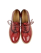 Burgundy and Black Leather Lace Up Shoe - MM6 Maison Martin Margiela