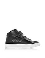 MM6 Maison Martin Margiela Sneaker da Uomo High Top in Pelle Nera - mm6 maison martin margiela - it.forzieri.com