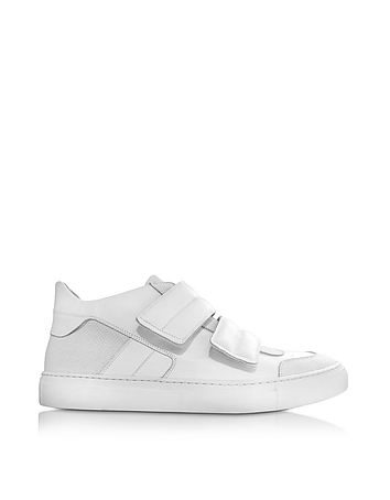 White Leather Low Top Sneaker