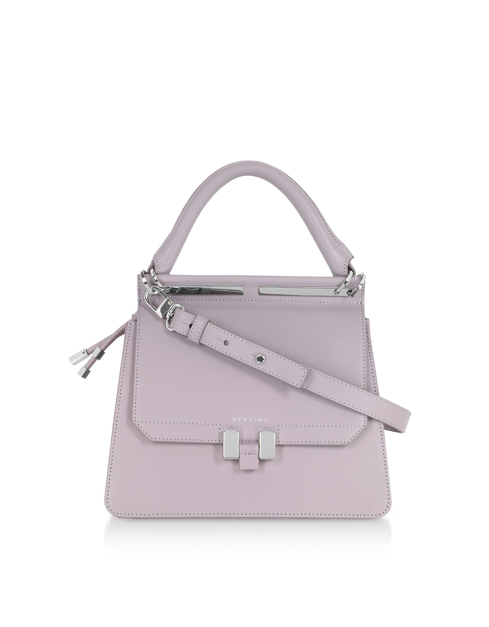 Maison Héroïne Handbags, Lilac Marlene Mini Tablet Satchel Bag