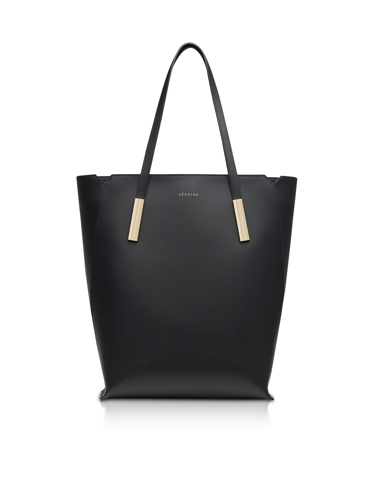 Maison Heroine Designer Handbags, Black Marta Leather Tote Bag
