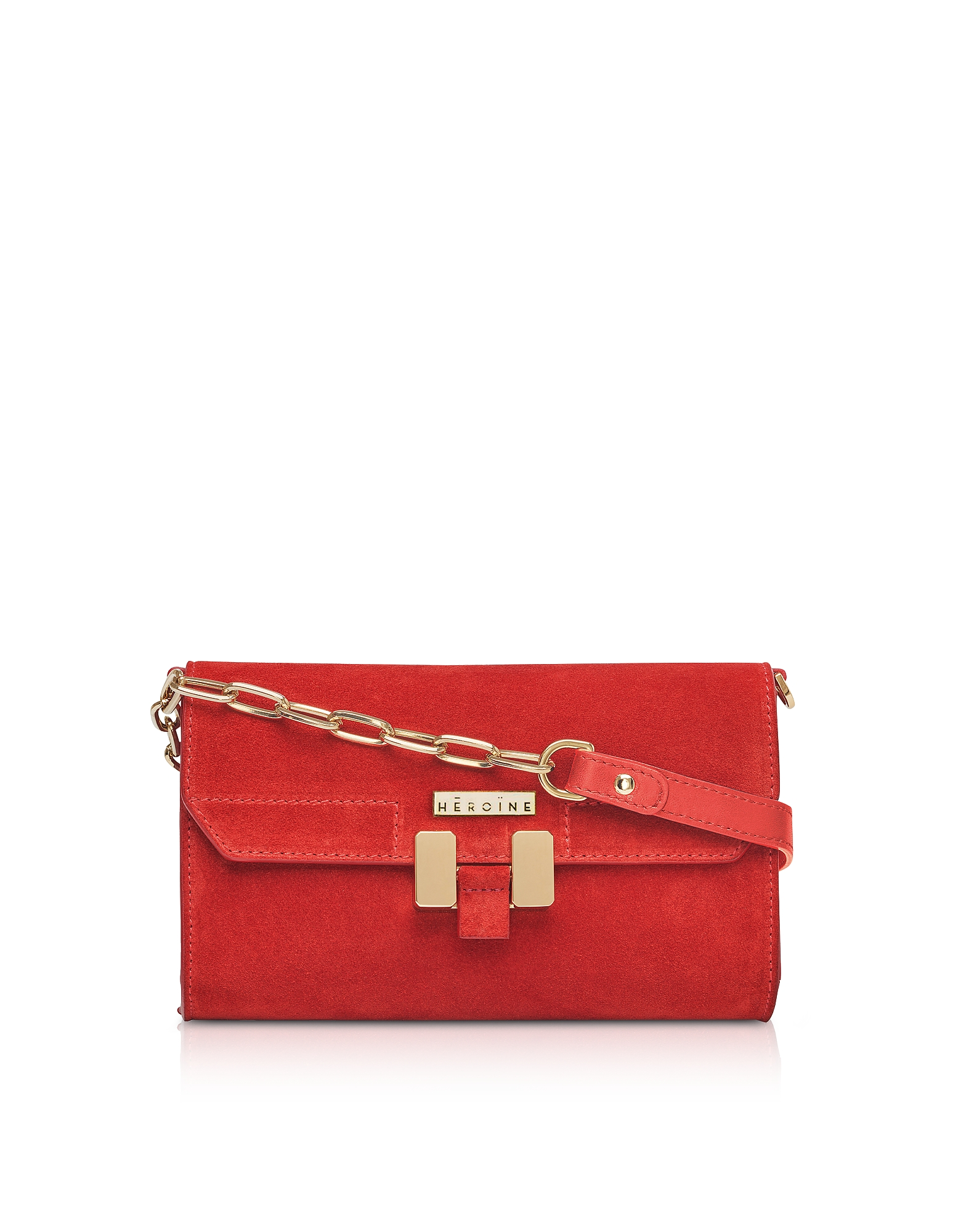 Maison Heroine Designer Handbags, Brick Suede Carrie Belt Bag
