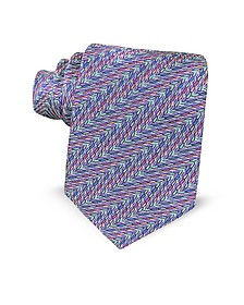 Optical Printed Silk Narrow Tie - Missoni