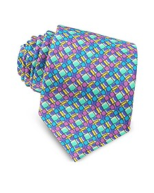 Corbata de Seda Estampado Optical Multicolor - Missoni