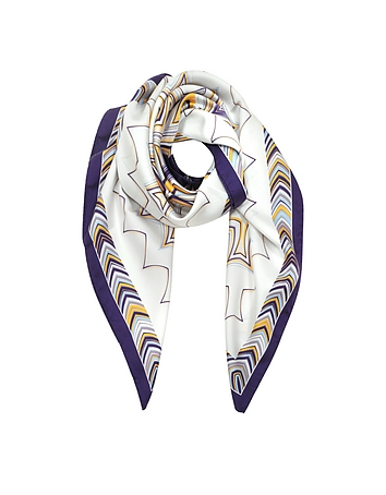 Missoni - Optical Print Pure Silk Square Scarf