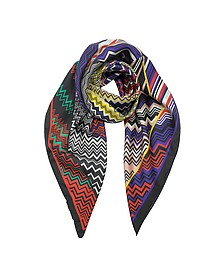 Foulard in Seta Stampa Digital Zig Zag - Missoni