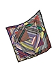 Digital Zig Zag Printed Silk Square Scarf - Missoni