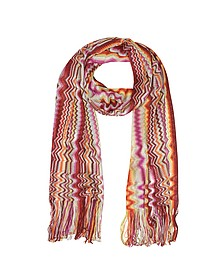 Zig Zag and Waves Viscose Fringed Stole - Missoni