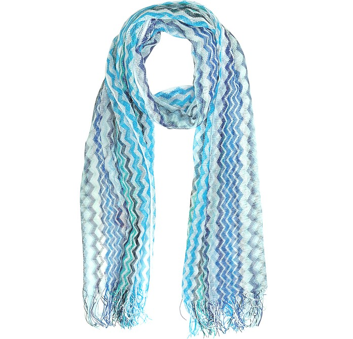 Viscose and Cotton Zig Zag Stole - Missoni