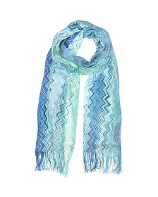 Woven Zig-Zag Viscose Long Scarf - Missoni